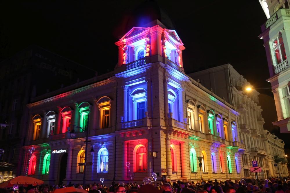 Pokaz świateł w Łodzi