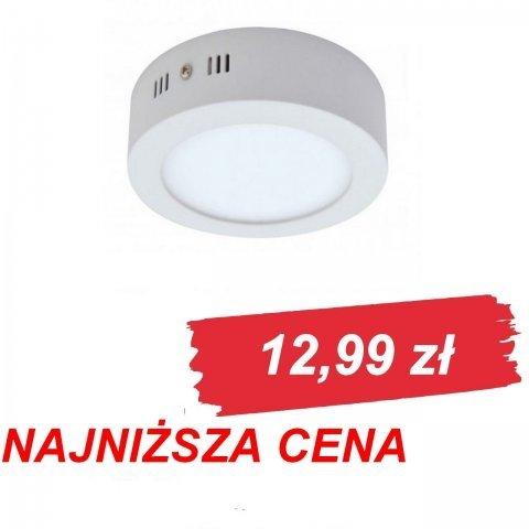 Plafon LED okrągły natynkowy o mocy 6W