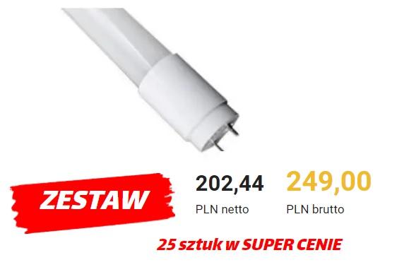 Zestaw Świetlówek LED - 25 sztuk