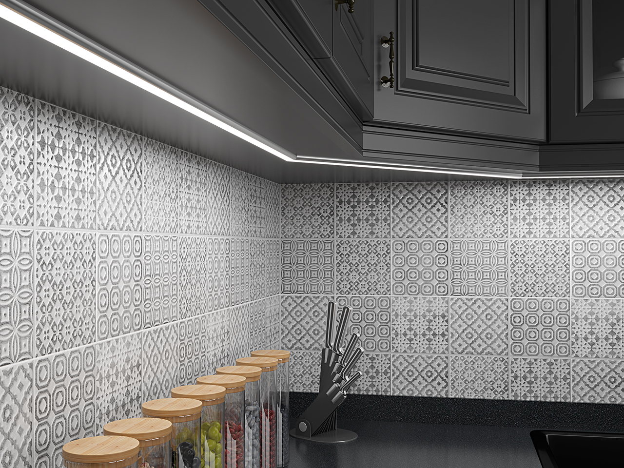 Taśmy LED w kuchni