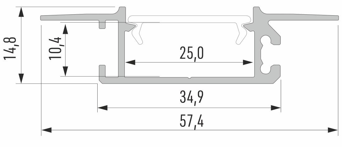 Profil aluminiowy do taśm LED
