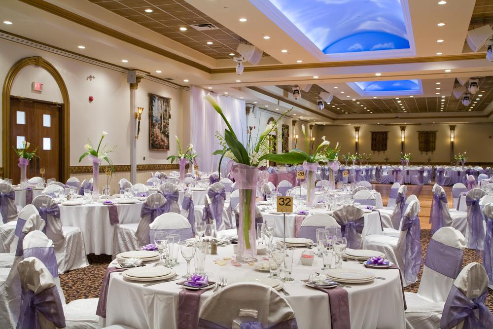 Oświetlenie LED sali weselnej