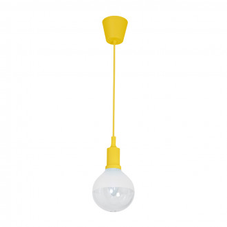 LAMPA WISZĄCA BUBBLE YELLOW 5W E14 LED