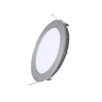 Panel LED ART okrągły ultra slim nikiel 12W