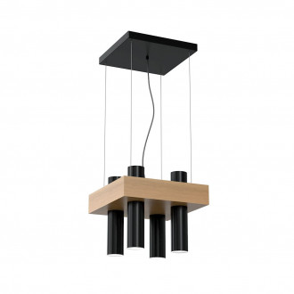 Lampa wiszaca WEST BLACK 4xGU10