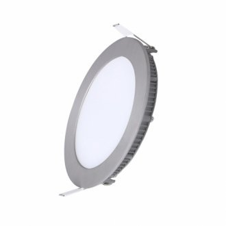 Panel LED ART okrągły 120mm ultra slim W4000K nikiel 6W